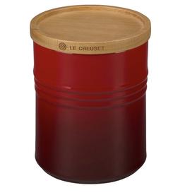 Le Creuset Le Creuset 2.5Qt Storage Jar w/wood lid Cerise