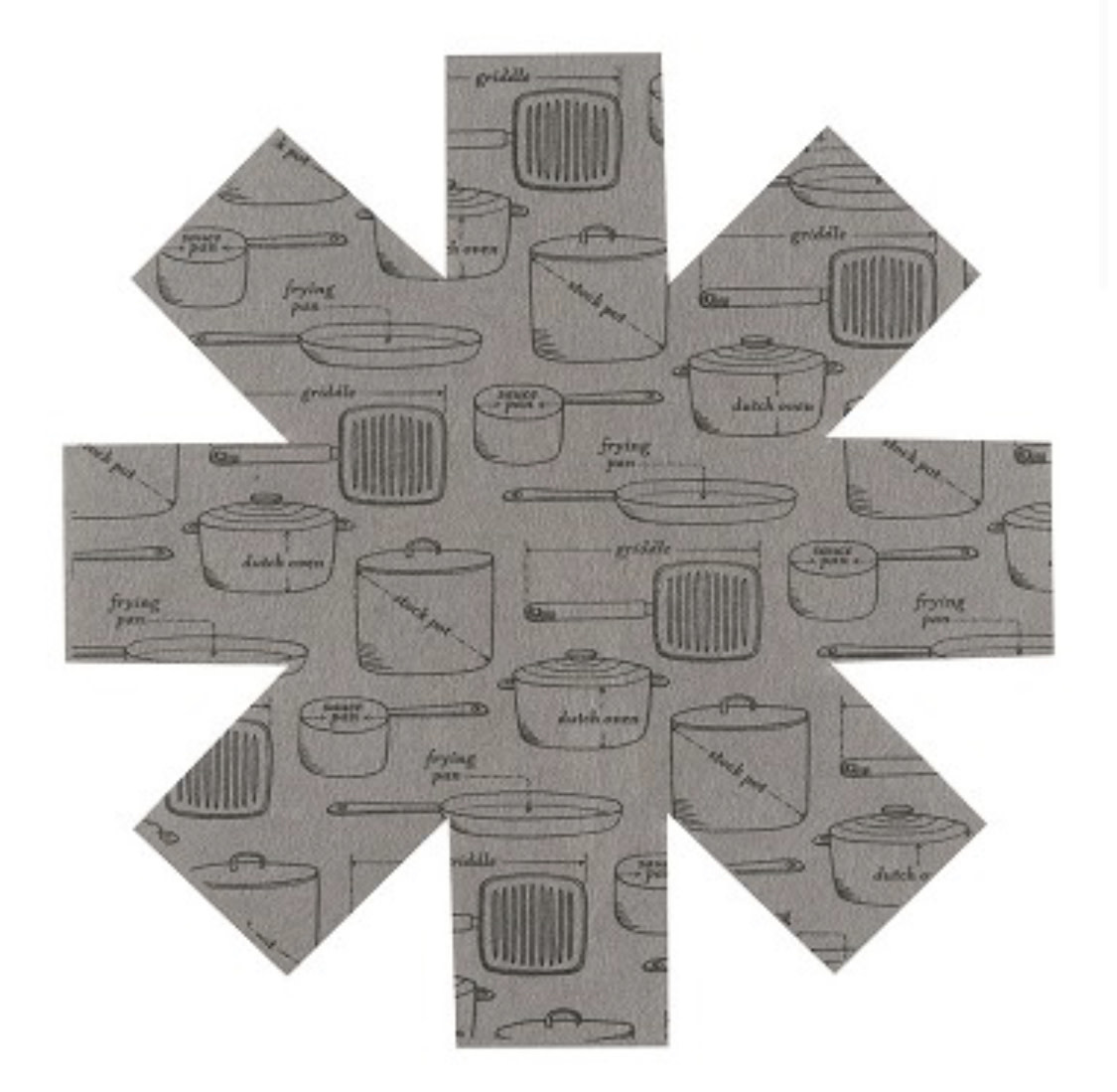 Now Designs Pan Protectors Gray