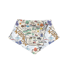 Fish-Kiss Wisconsin Baby Bib