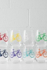 Vital Industries Bicycle Stemless Wine Glasses