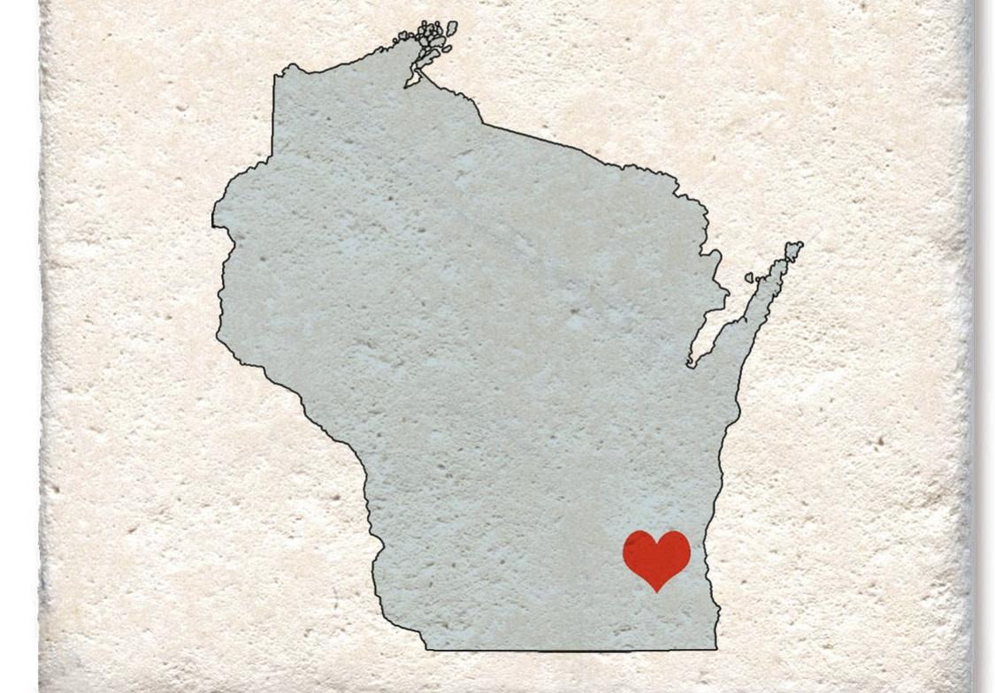 Tipsy Wisconsin Soap Stone Coaster