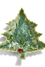 Twos Co Christmas Tree Soap Dish w/Bayberry Soap