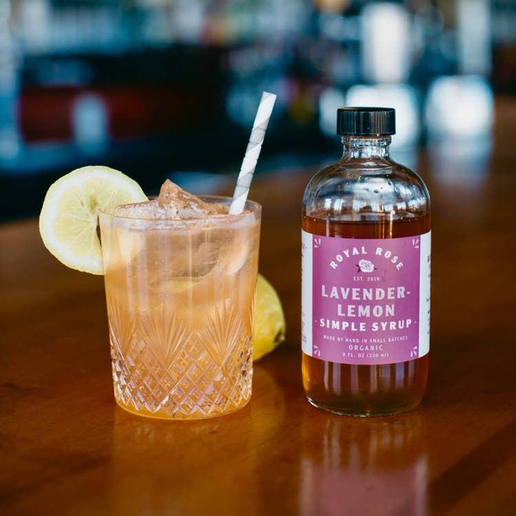 Royal Rose 8oz Simple Syrup-Lavender-Lemon