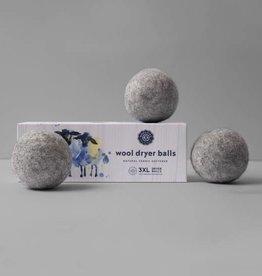 Woolzies: 3 Pure Wool Dryer Balls Gray