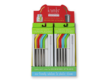 Krumbs Kitchen 4pk Stainless Steel Straws
