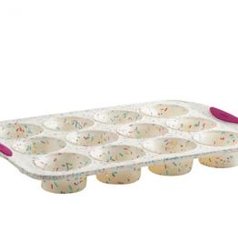 Trudeau 12-Count Muffin Pan Confetti Fuchsia