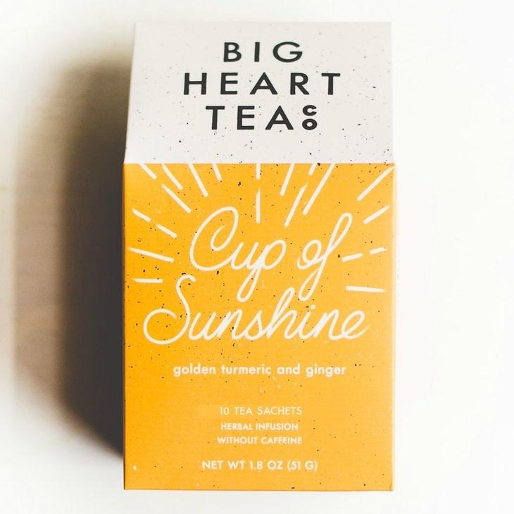 Big Heart Tea Cup of Sunshine Tea Bags