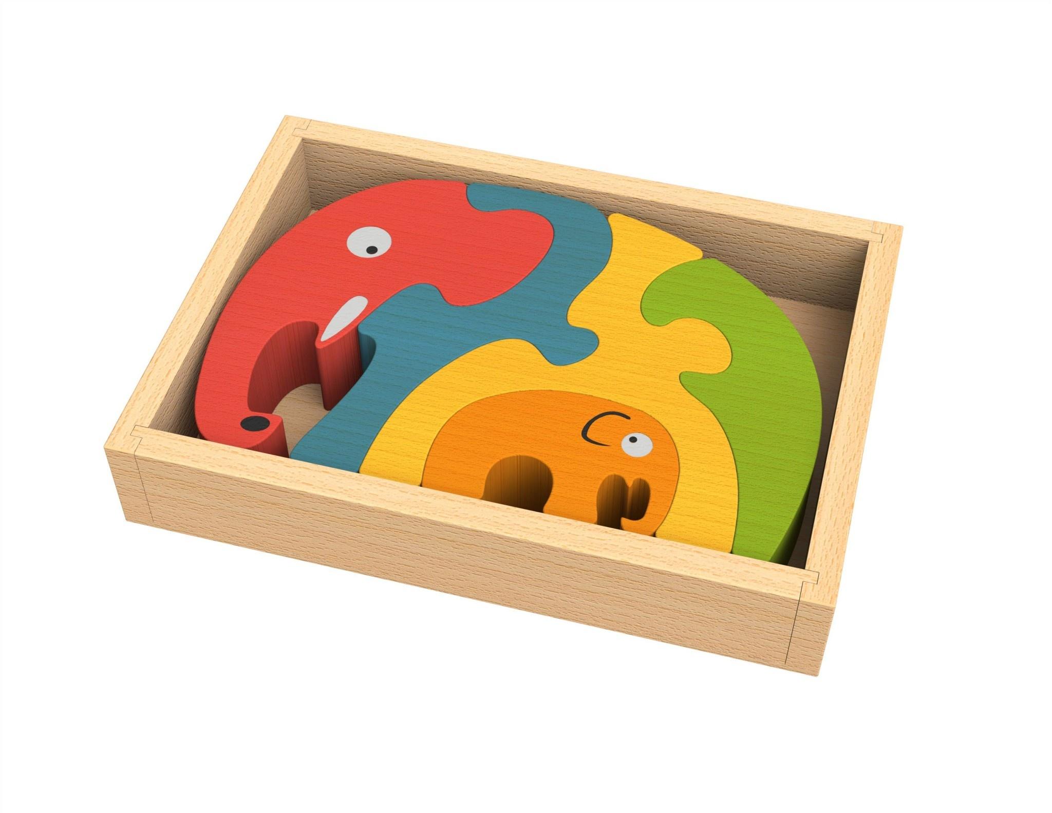 Begin Again Elephant Family Puzzle