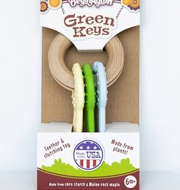 Begin Again Green Keys Teething Toy