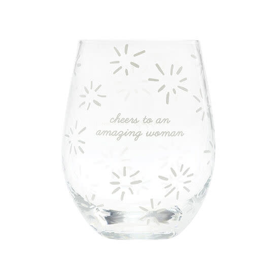 About Face Wine Glass