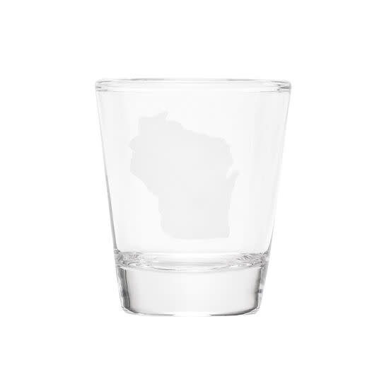 About Face WI Shot Glass