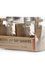 Kikkerland Mason Jar S&P Shakers