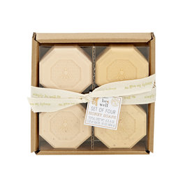 Simply Be Well Honey Soaps set of four