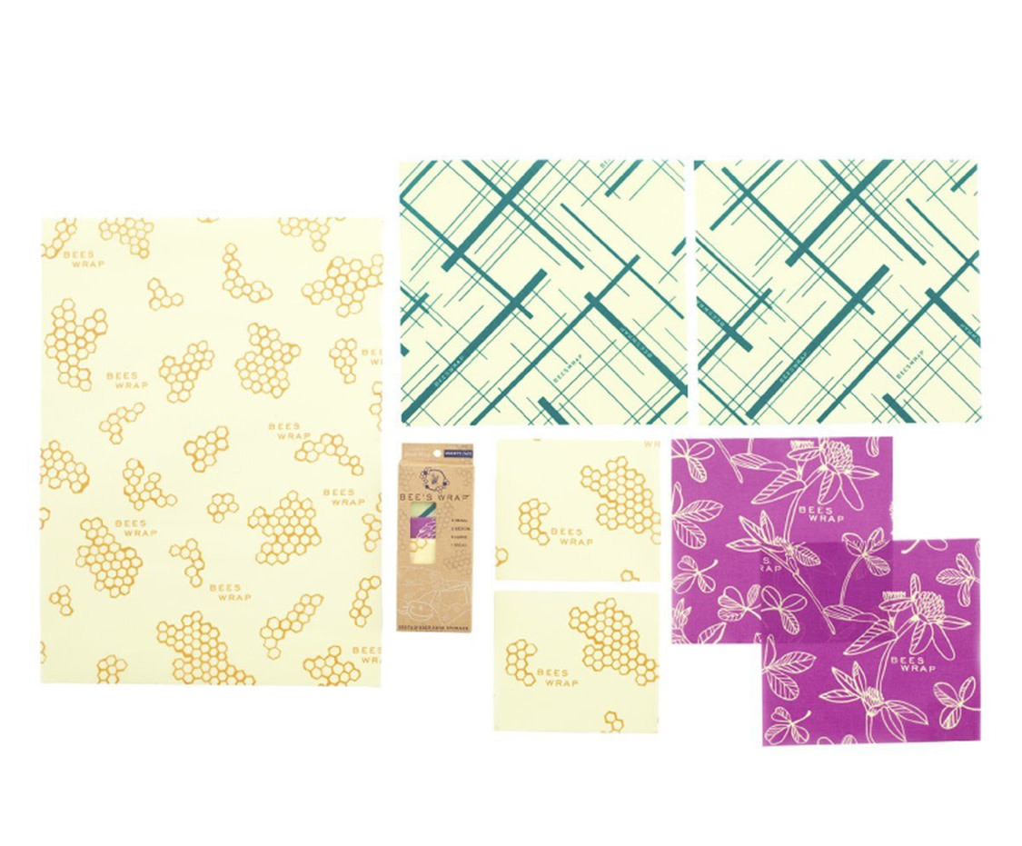 Bees Wrap Variety Pack Honeycomb, Clover, Geometric