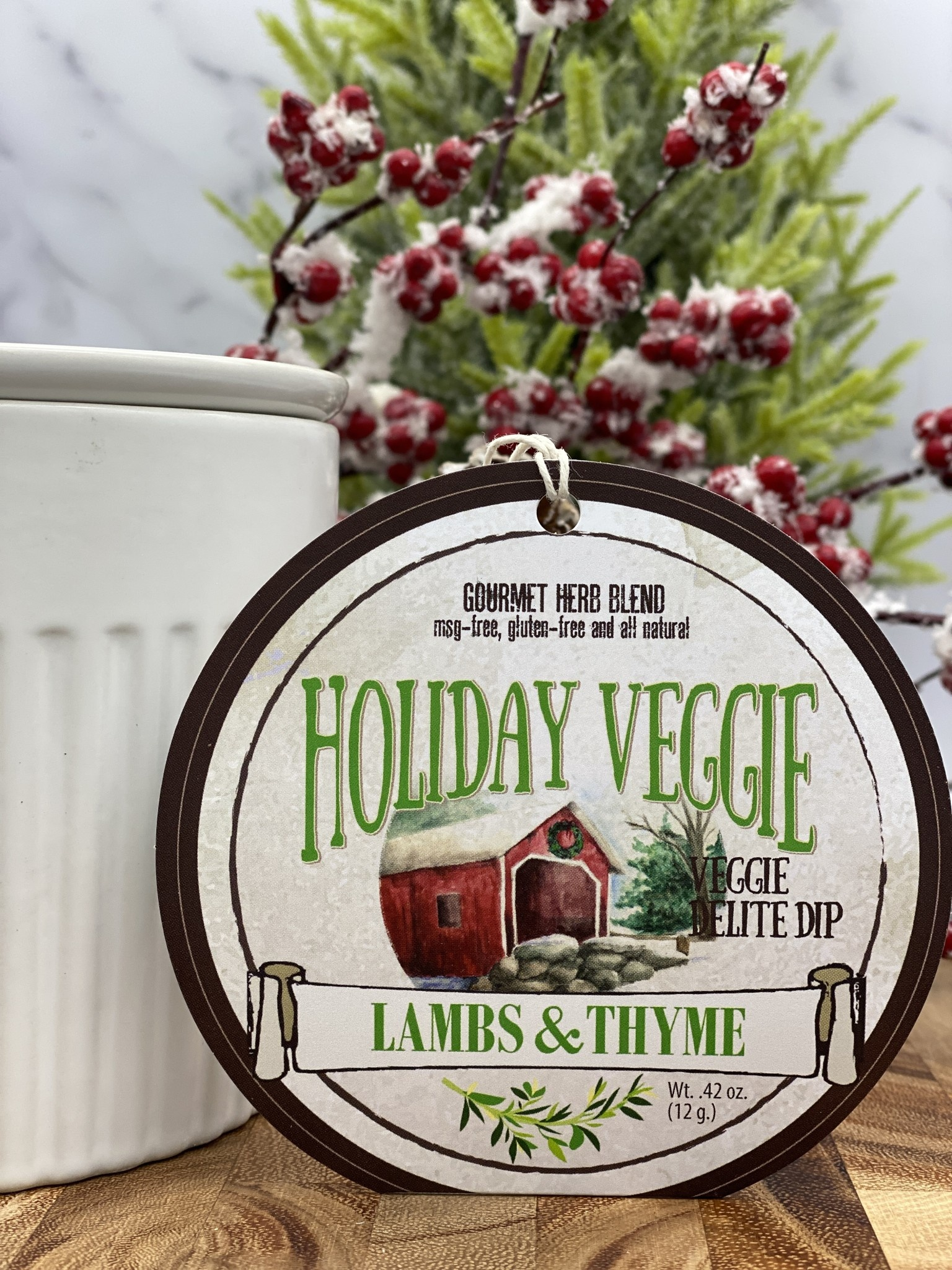 Lambs & Thyme Holiday Dips Holiday Veggie