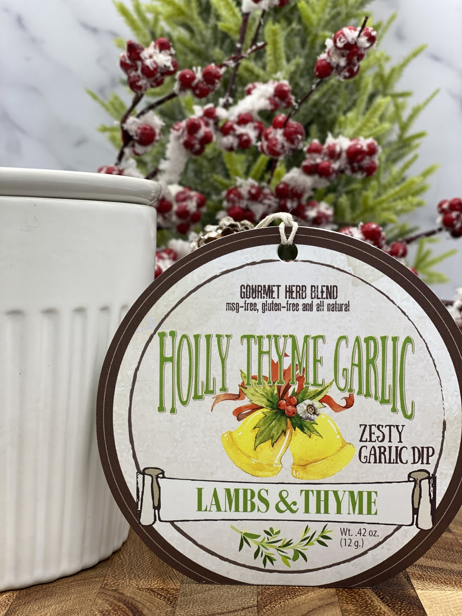 Lambs & Thyme Holiday Dips Holly Thyme Garlic