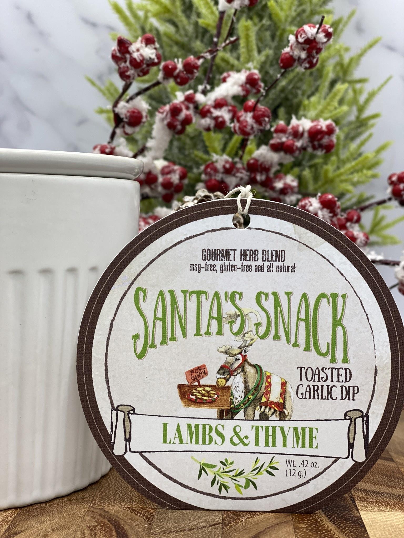 Lambs & Thyme Holiday Dips Santa's Snack