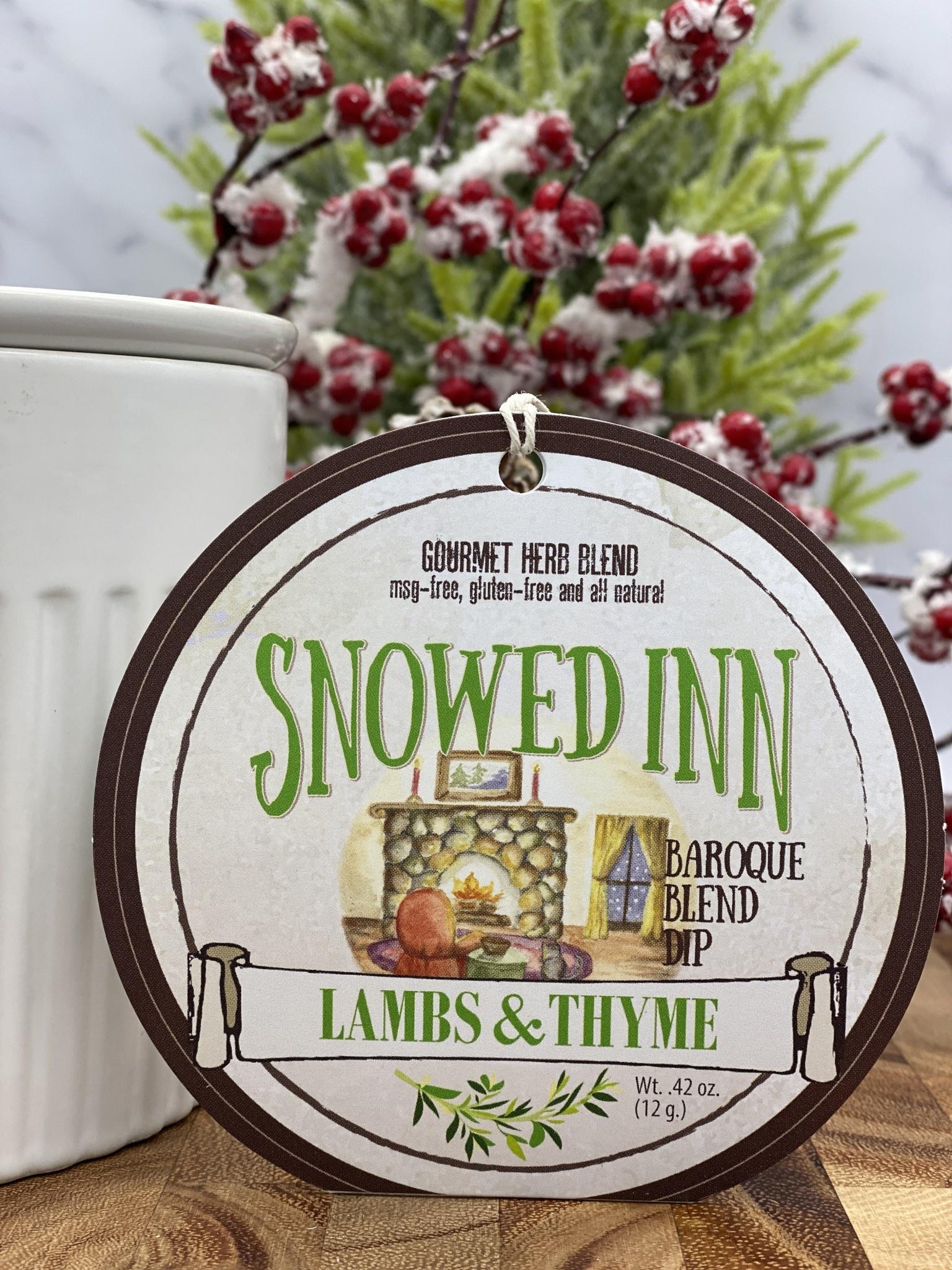Lambs & Thyme Holiday Dips Snowed Inn