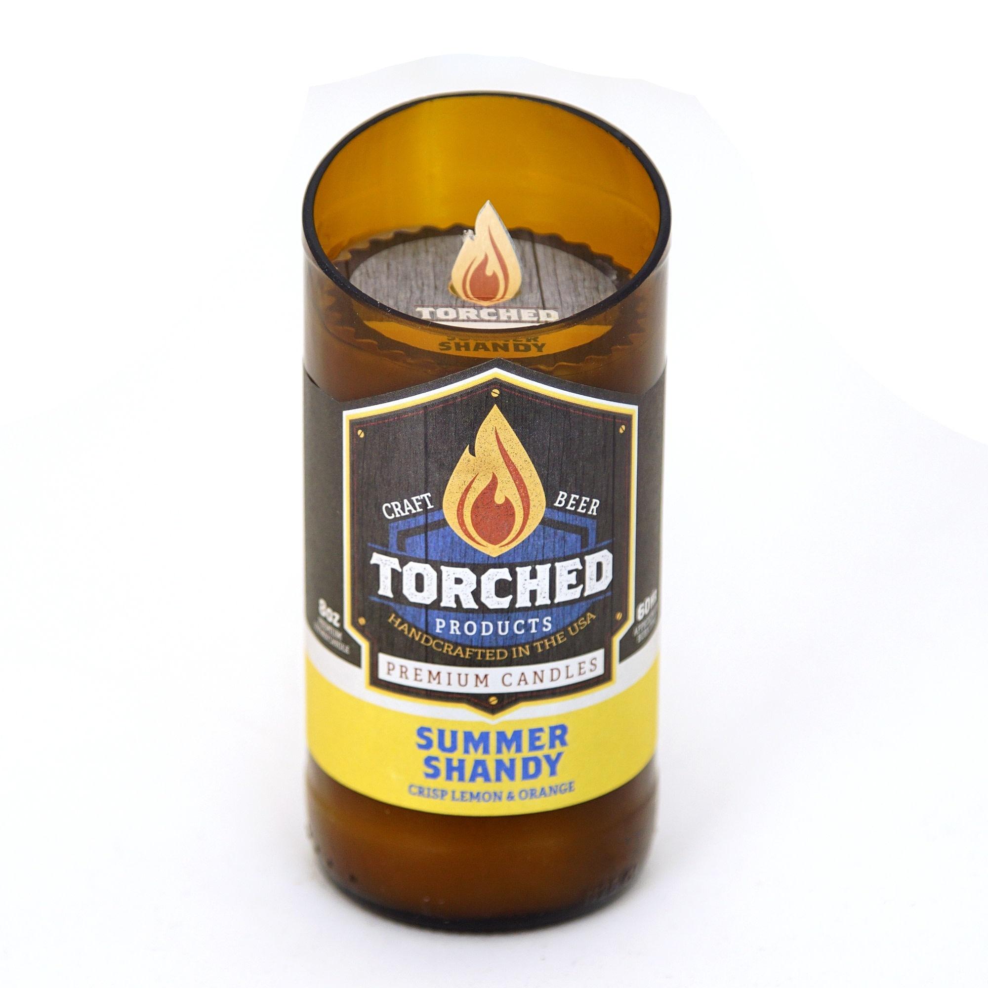 Torched 8 oz Beer Bottle Candle