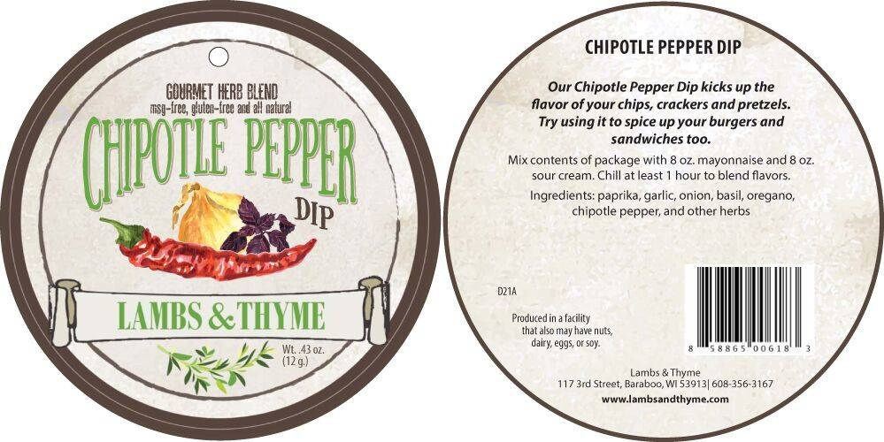 Lambs & Thyme Herb Dips Chipotle Pepper