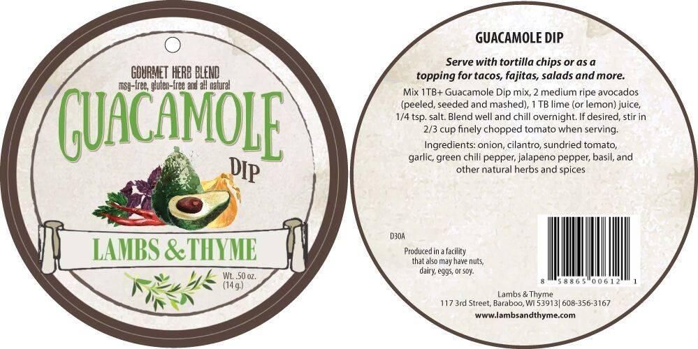 Lambs & Thyme Herb Dips Guacamole