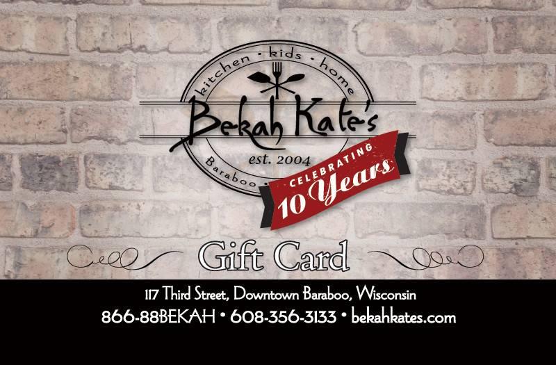 Bekah Kate's Gift Card $25