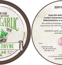 Lambs & Thyme Herb Dips Zesty Garlic