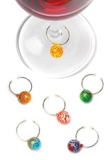 True Swirl Glass Wine Charms