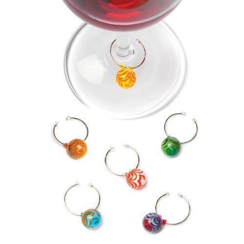 True Swirl Glass Wine Charms