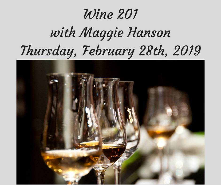 Wine 201 Cooking Class - 2/28/19