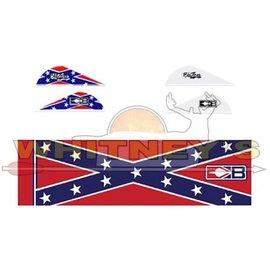 Bohning Company, LTD Bohning Blazer Vane / Wrap Combo Confederate Flag