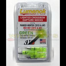 Parker Compound Parker Crossbow Lighted Illuminated Capture Nocks Bolt Ends Red 3 Pk 38-3368
