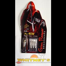 "Grim Reaper Grim Reaper RazorCut SS X-Bow Broadhead-1 1/2"" Cut- 100 Grain-Crossbow broadhead"