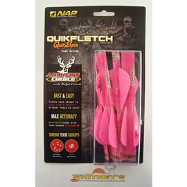 """New Archery Products (NAP) NAP Quikfletch Vane System Quick Spin Vanes 2"""" 6pk Pink / Pink"""