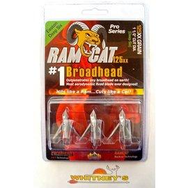 "Fulton Precision Archery LLC. Ram Cat Pro Broadheads- 125 Grain Deep Six 1 1/5"" Dia. -by Smoke Broadheads"