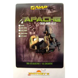 New Archery Products (NAP) NAP Apache Drop-Away Rest - APG Camo, Right Hand Model 60-969
