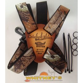 Crooked Horn Outfitters Crooked Horn's Slide and Flex Bino-System Binocular Strap Holster Holder Harness Camo