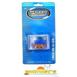 Muzzy Products Muzzy 100 Gr 4 Screw In Broadhead Replacement Blades 309  6X4 Blade Sets For 209