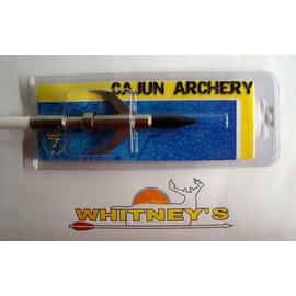 Escalade Cajun Archery Bow Fishing Arrow Garpoon AMS- ABF4953The barbs are held in place with a collar that deploys with a switchblade action after penetrating the fish.<br /><br />Excellent for all fish species<br /><br />Does not plane on water<br /><br />Replaceable Jackhammer tip makes old