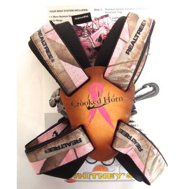 Crooked Horn Outfitters Crooked Horn's Slide and Flex Bino-System Binocular Strap Holster Holder Harness Realtree Pink