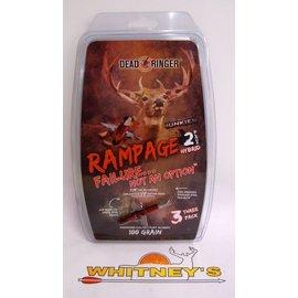 """Dead Ringer LLC Dead Ringer Rampage 100 Grain 1.5"""" cutting diameter -2 Blade 3PK-DR4699"""