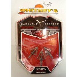 EASTON Carbon Express F-15 Dual Blade 125 GR Broadheads/ Fixed Blade Broadhead - 55640