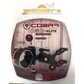 Cobra Cobra Buckhead Elite 5 Pin Fiber Optic Sight With Light Black  RH/LH C-805T-BLK