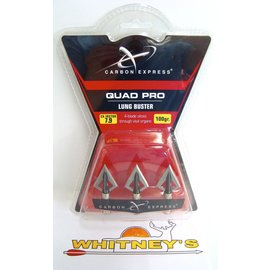 Eastman Outdoors Carbon Express Quad Pro Lung Buster Broadhead 100 Grain - 55505