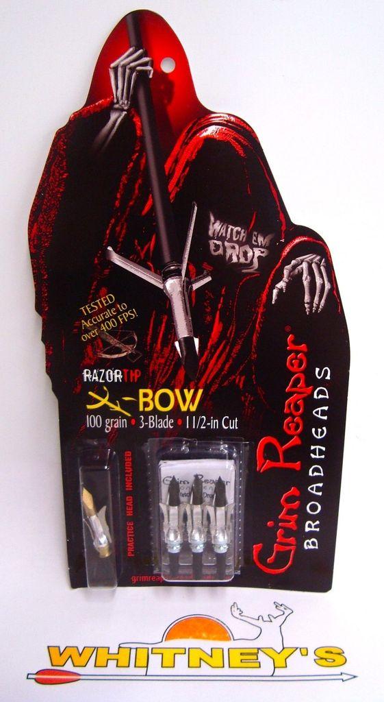 Grim Reaper Grim Reaper Razor Tip Crossbow Broadheads ...