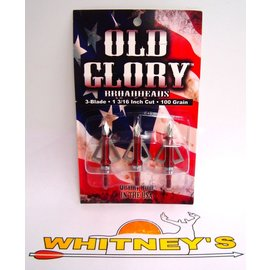 """Grim Reaper Old Glory Fixed 100 Gr. 3-Blade 1 3/16"""" Dis. By Grim Reaper-7601"""