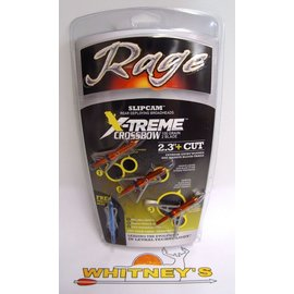 Rage Slip Cam Rage Xtreme Slip Cam Crossbow Broadheads 100 Grain - R52000