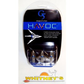 G5 G5 Havoc Terror of Two 2 Blade 100 Grain Expandable Broadheads / Broadhead #940