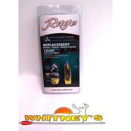 Rage Slip Cam Rage Hypodermic Replacement Blades/Screws/Shock Collars - 100/125 Grain-2 BLADE