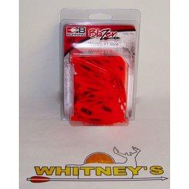 Bohning Company, LTD Bohning Blazer Vanes - 100 pack in Neon Red-10832NR2